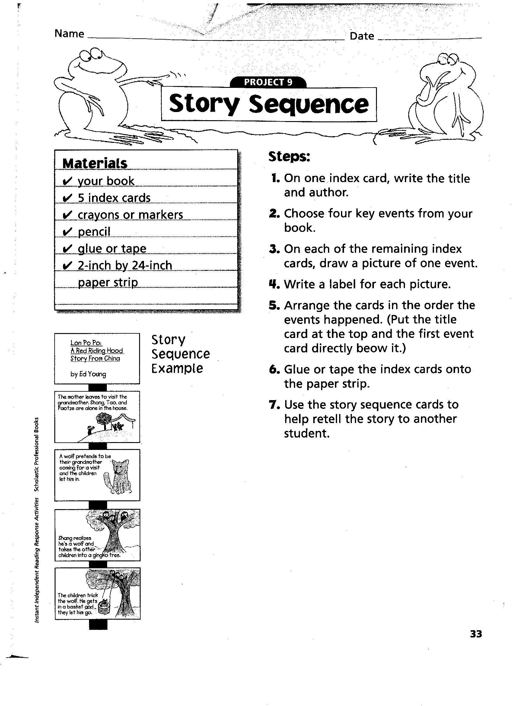 20 Printable Sequencing Worksheets In