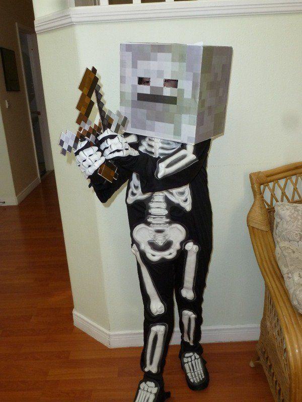 Diy minecraft skeleton costume kids halloween party ideas diy minecraft skeleton costume kids halloween party ideas solutioingenieria Images