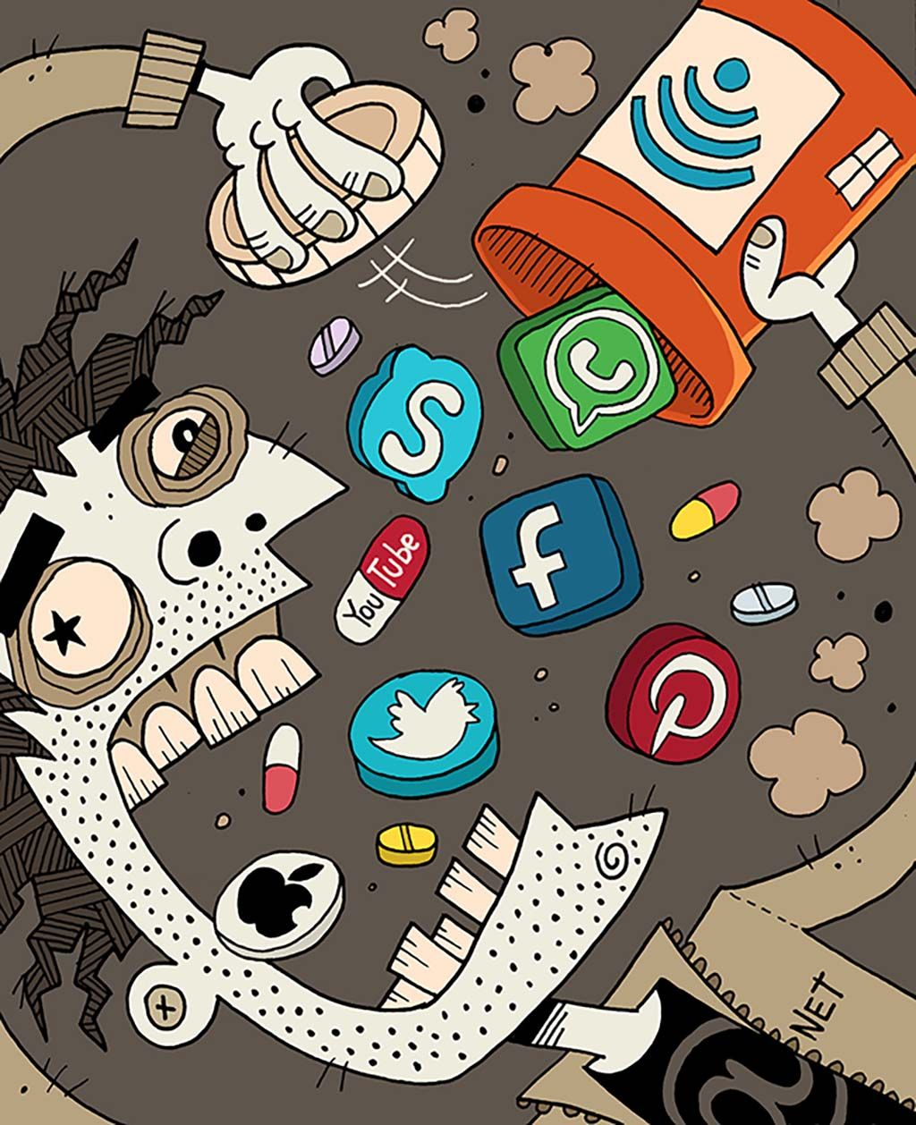 Artists Around The World Criticize Social Media In The Best Way Possible in  2021 | Social media art, Social media drawings, Social media poster
