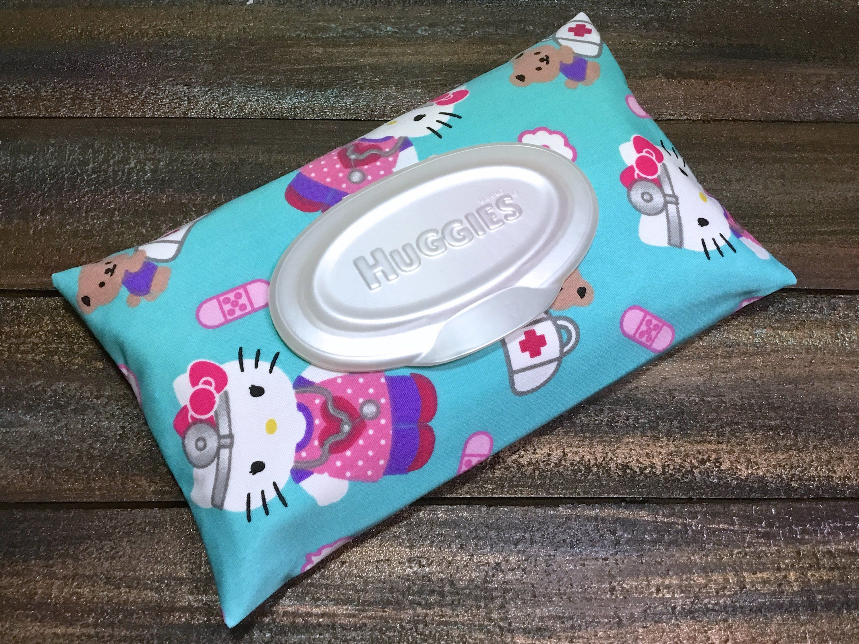 Hello Kitty First Aid Print Wipe Case / Travel Wipes Case