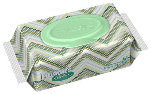 Huggies Naturally Refreshing Baby Wipes Soft Pack, 64-Count (Pack of 4) Thicker than other national brands to handle big messes. Keep your baby feeling bath-like fresh all day longday long!. Refreshing cucumber & green tea scent. Refillable tubs feature Disney friends and designer trends.  #Huggies #HealthAndBeauty