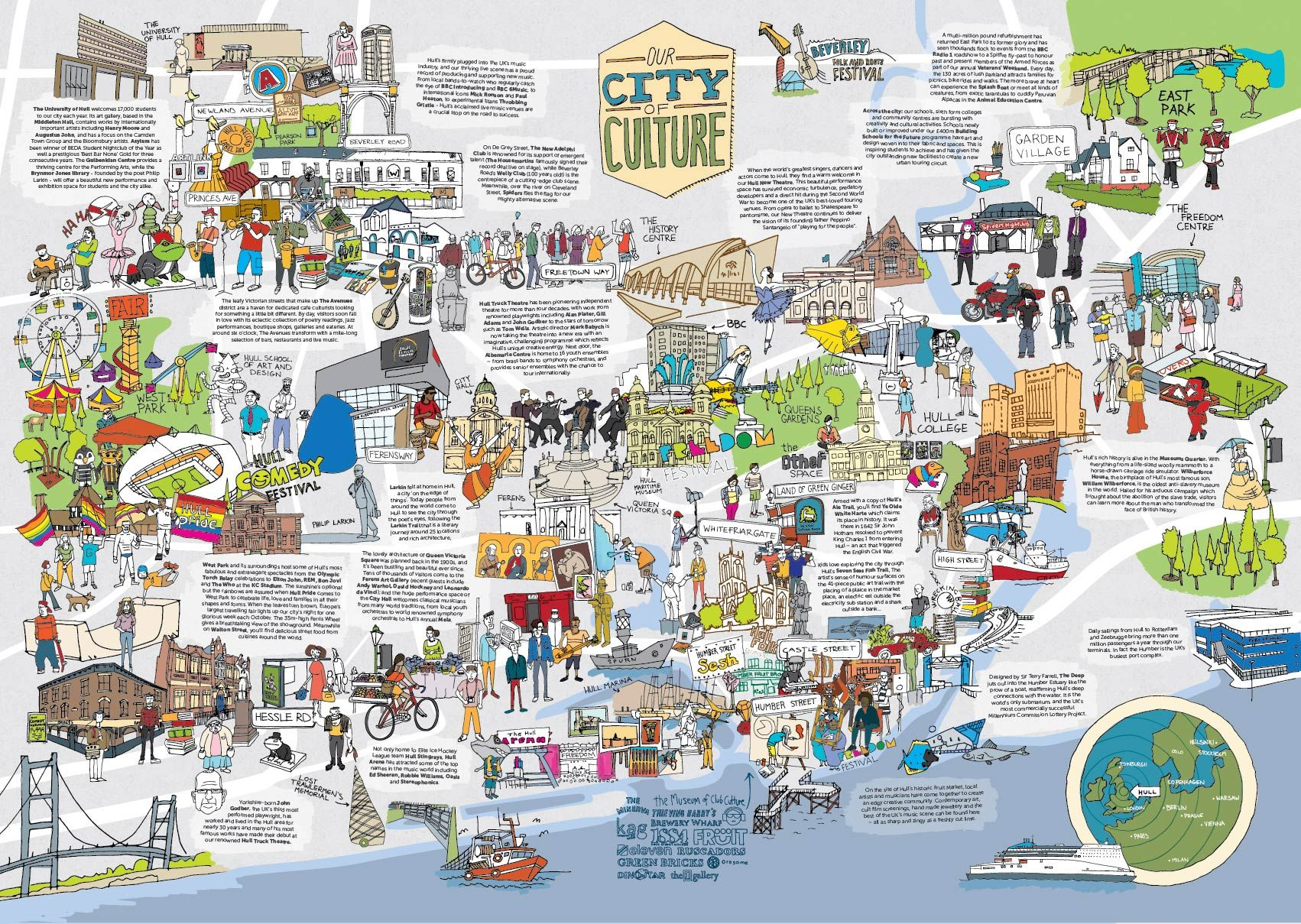 Map Of Uk Hull.Hull City Of Culture Map I Could Look At This For Hours European