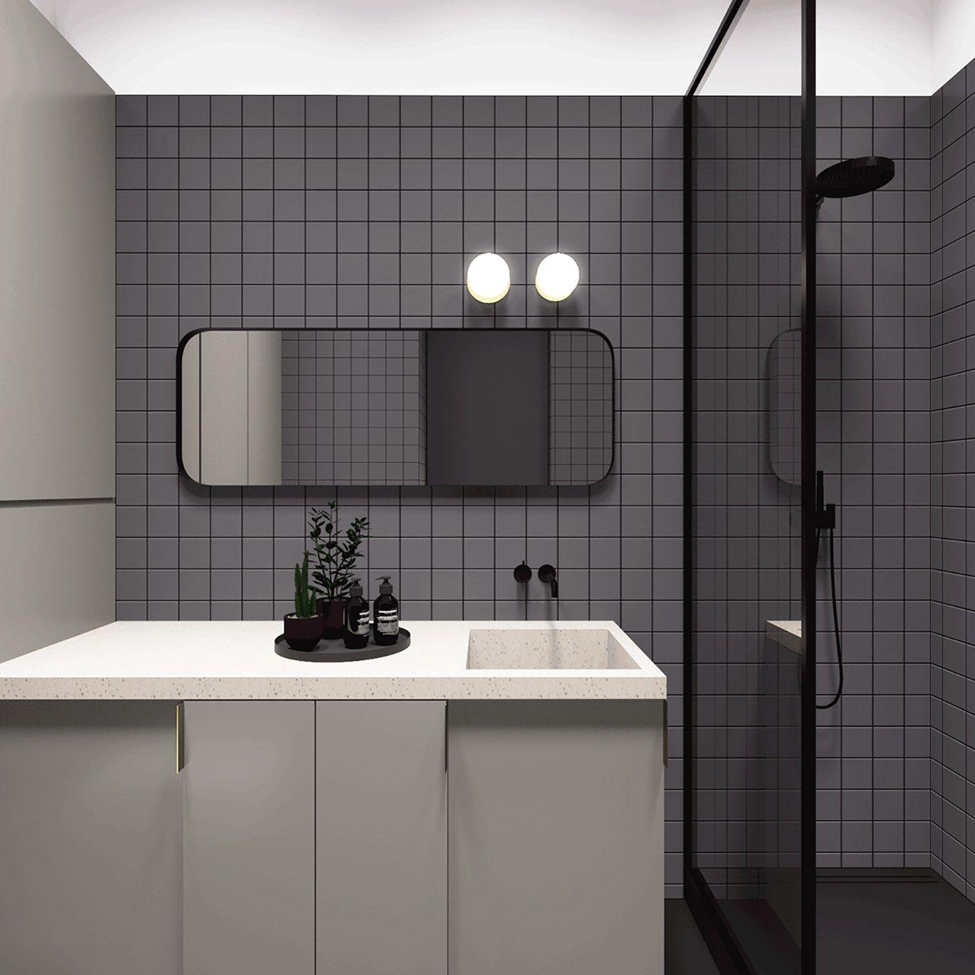 55 Sq Meters Apartment | Bathroom interior, Apartment ...
