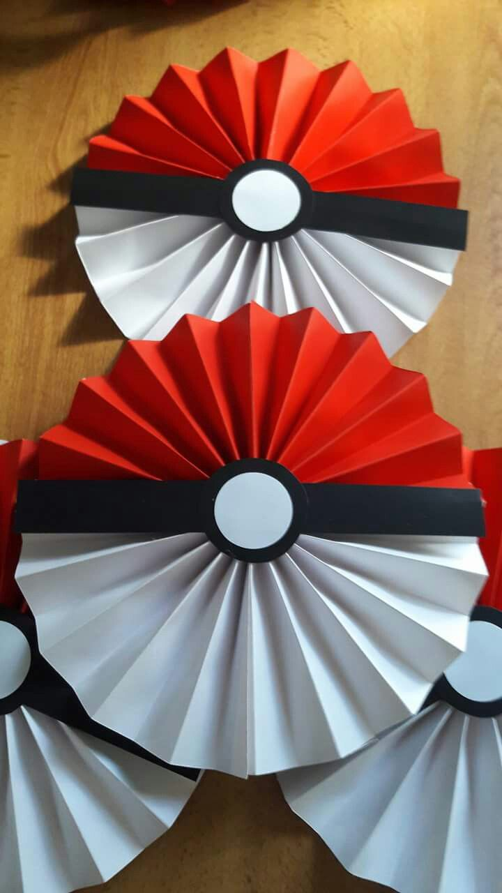 Pokemon Party Decorations Paper Fan Birthday