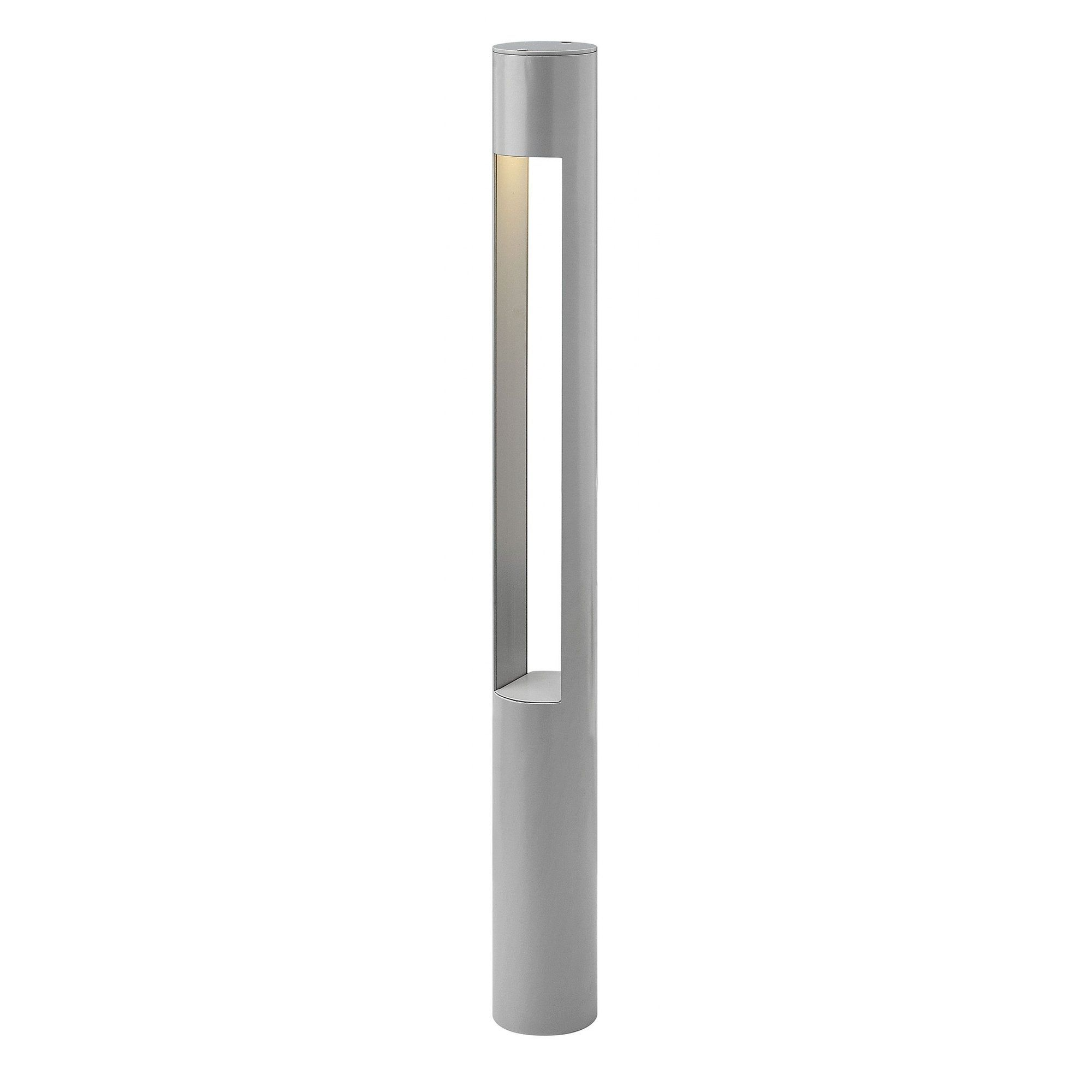 Hinkley Landscape Atlantis 8 Watt 120 Volt Bollard Light Silver Hinkley Lighting Hinkley Lighting Bollard Lighting Led Outdoor Wall Lights