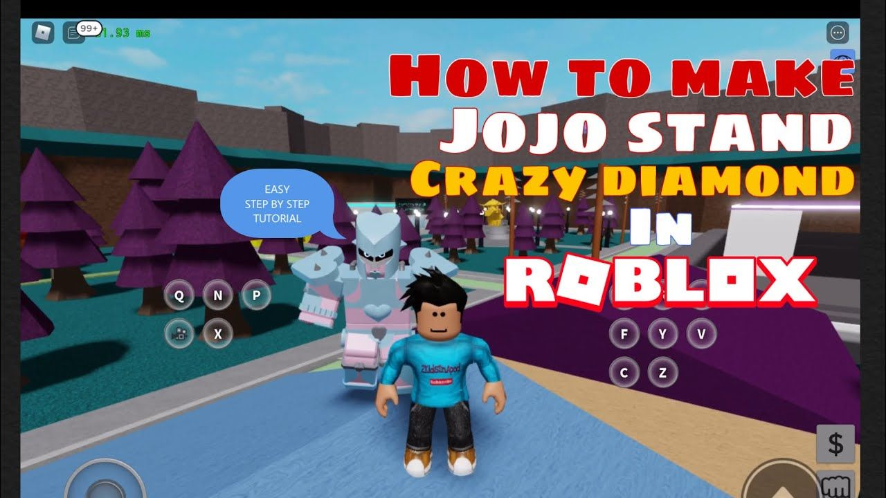 HOW TO CREATE CRAZY DIAMOND STAND FROM ANIME JOJO'S