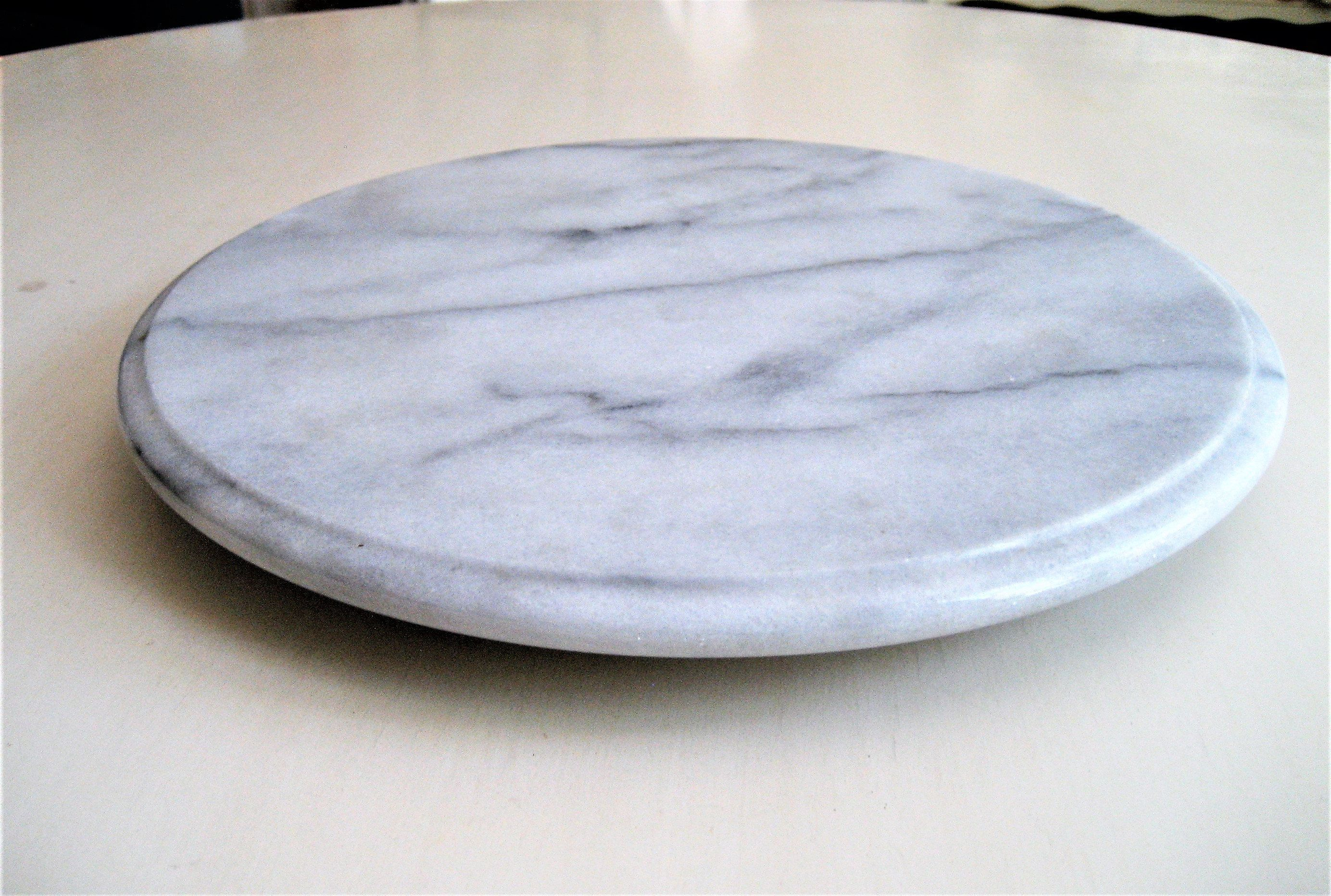 Marble Lazy Susan Round Marble Table Centerpiece Gift Turntable Easy Reach Salt Pepper Shakers Sugar Napki Marble Lazy Susan Round Marble Table Marble Table
