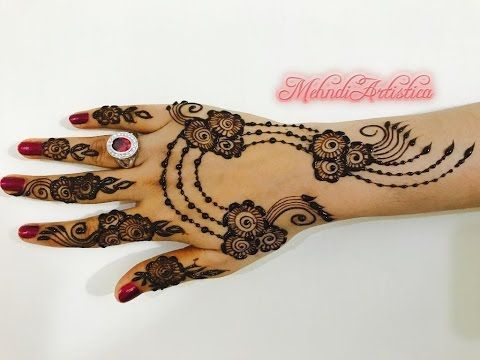 fab05e6a8 Henna Tips/ Unique Ornamental Mehndi Design   Beautiful Designer Mehendi  Art   MehndiArtistica - YouTube