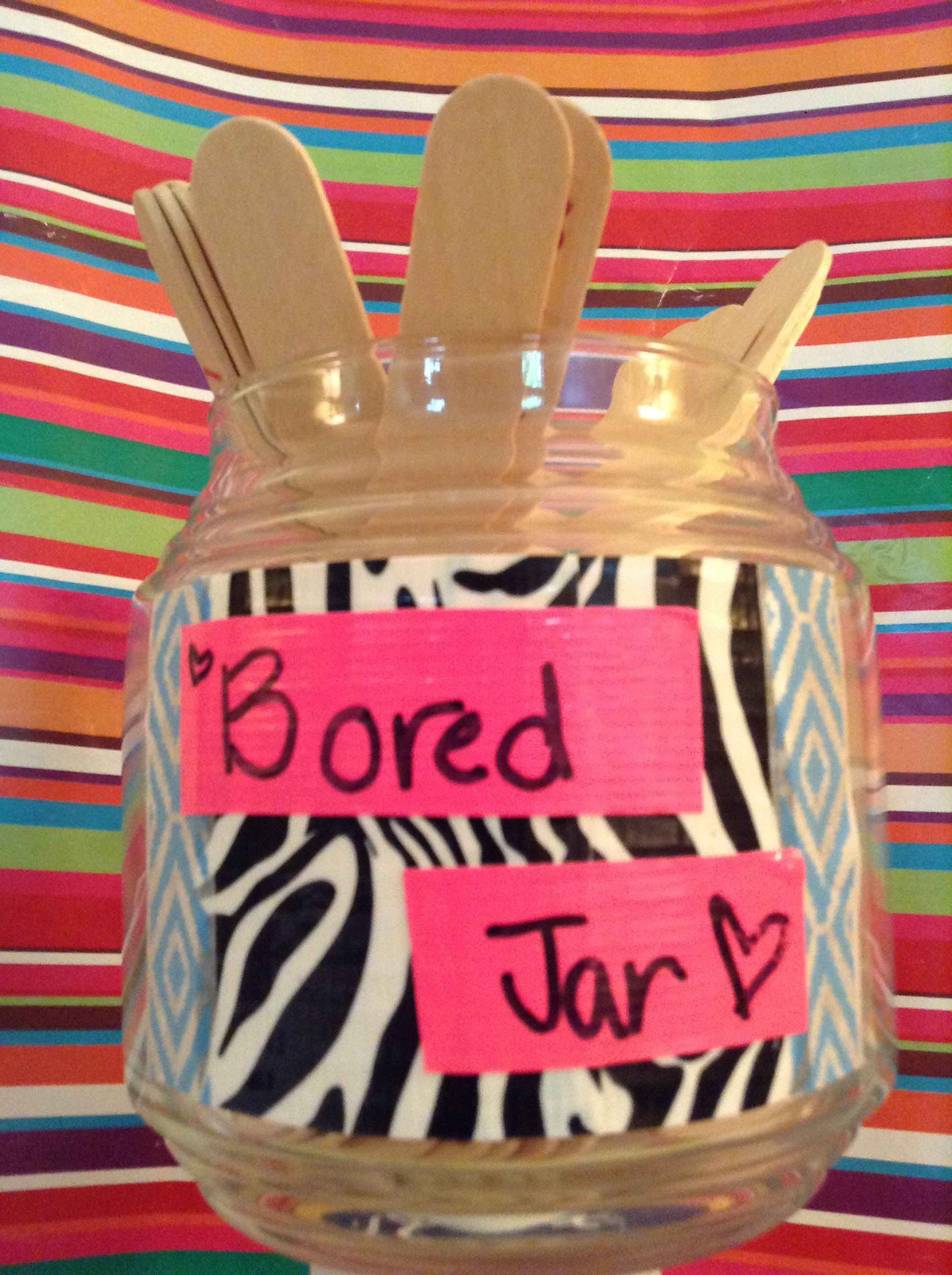 Every kid gets bored so why not make a bored jar. You
