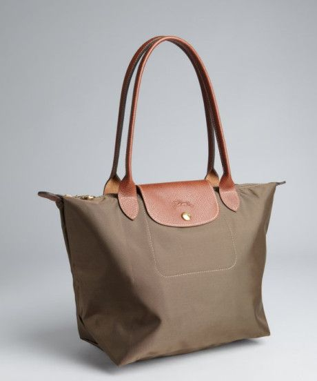 8f545ba48920 longchamp bag le pliage taupe