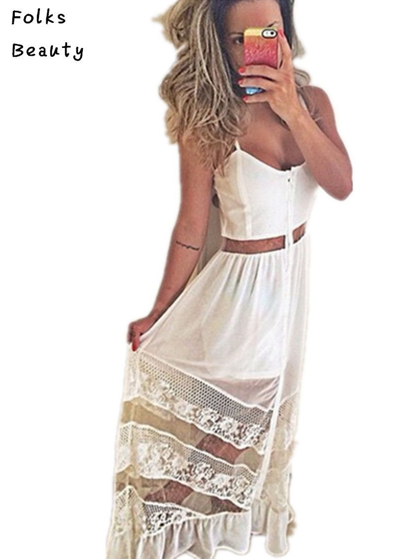 Click to buy ucuc new white sexy women dress female fashion