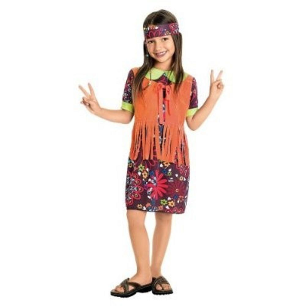 NEW FLOWER CHILD GROOVY HIPPIE HIPPY 60u0027s CHILD HALLOWEEN COSTUME size ...  sc 1 st  Pinterest & NEW FLOWER CHILD GROOVY HIPPIE HIPPY 60u0027s CHILD HALLOWEEN COSTUME ...