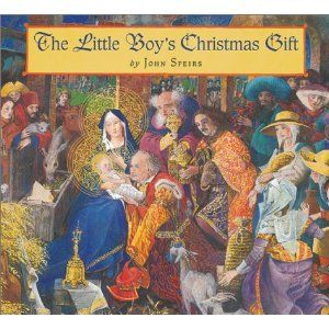 Little Boys Christmas Gift - no one notices the little boy following the wise men and others