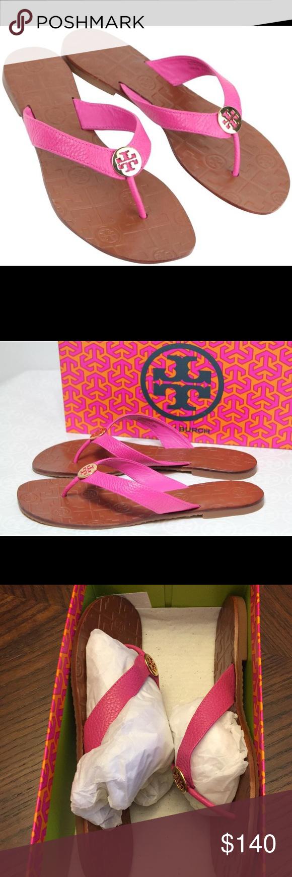 774e86e1b NEW Tory Burch Thora Tumbled Leather Sandals🌟 New in box Tory Burch Thora  Tumbled Leather Thong Sandals