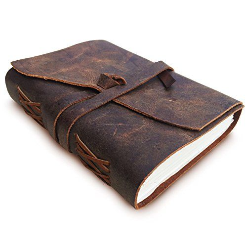 Unlined Notebook with Genuine Leather Cover Handmade Leather Journal