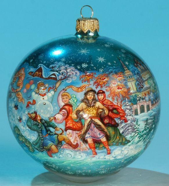 1_1 Folk Russian Christmas Folk, Christmas tree and Ornament