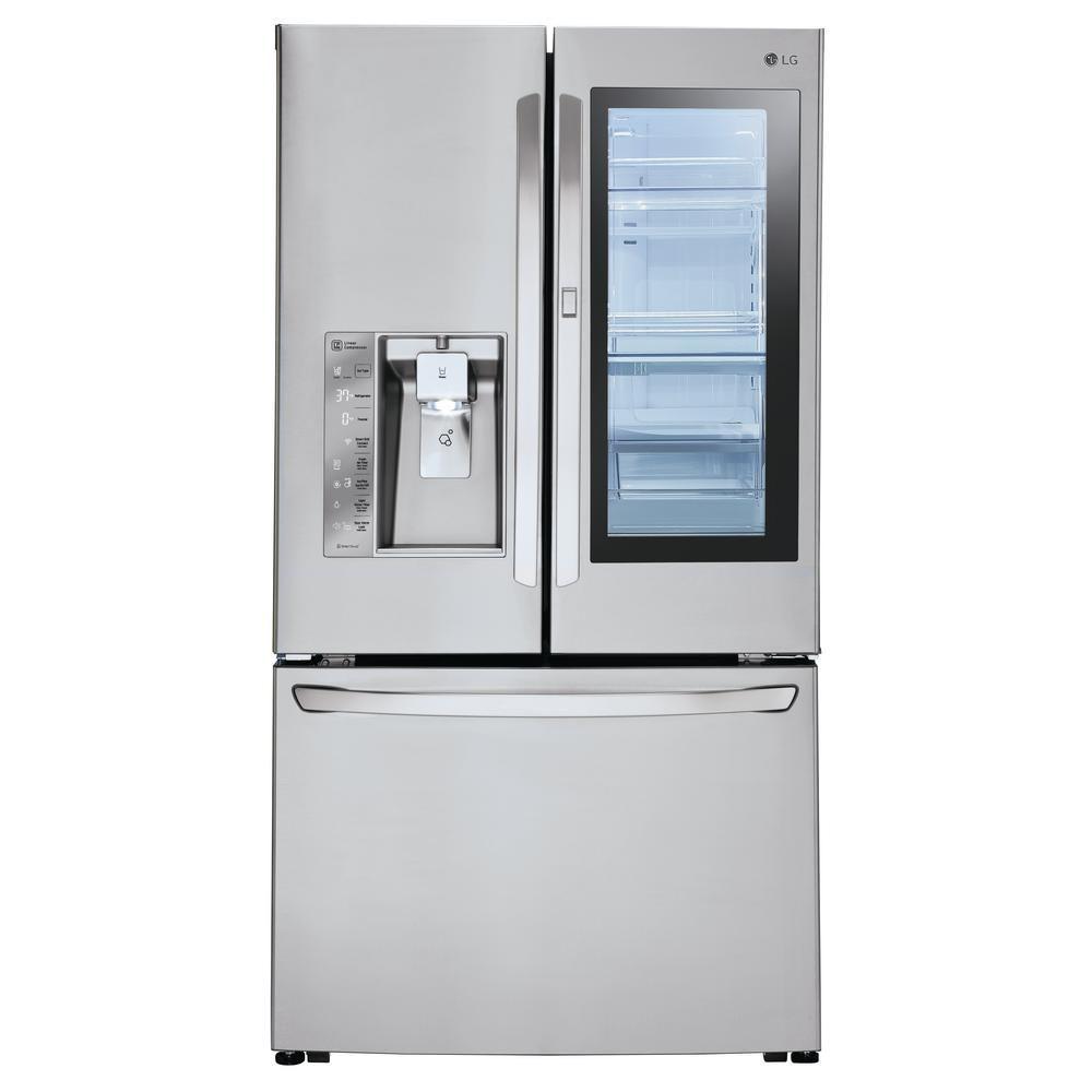 Lg Electronics 24 Cu Ft 3 Door French Door Refrigera French Door Refrigerator Stainless Steel French Door Refrigerator Counter Depth French Door Refrigerator