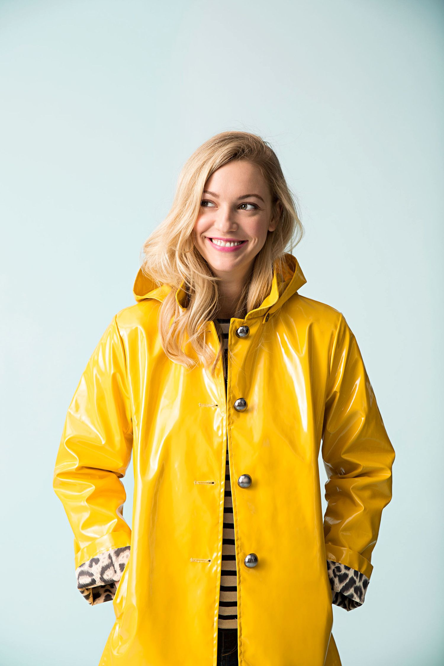 Shiny Yellow Raincoat Yellow Raincoat