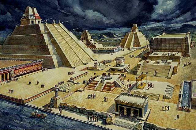 Das Ende des Aztekenreichs – wie brutale Eroberer eine Kultur zerstörten: Mexikanische Archäologen haben im aztekischen Templo-Mayor-Komplex einen tunnelähnlichen Durchgang entdeckt, der zu z…