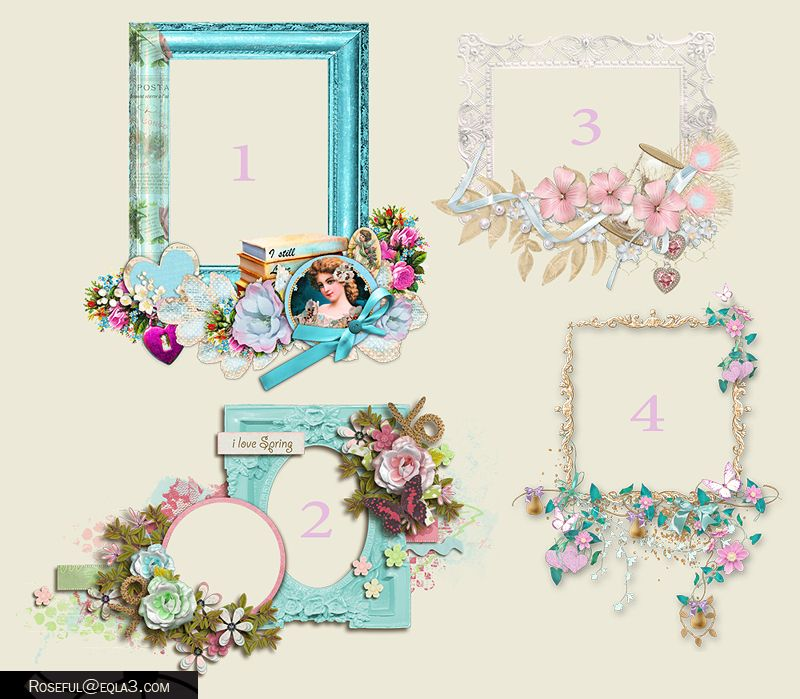 سكرابز اطارات فخمة بجودة عالية منتديات احلى الساعات Floral Wreath Floral Frame