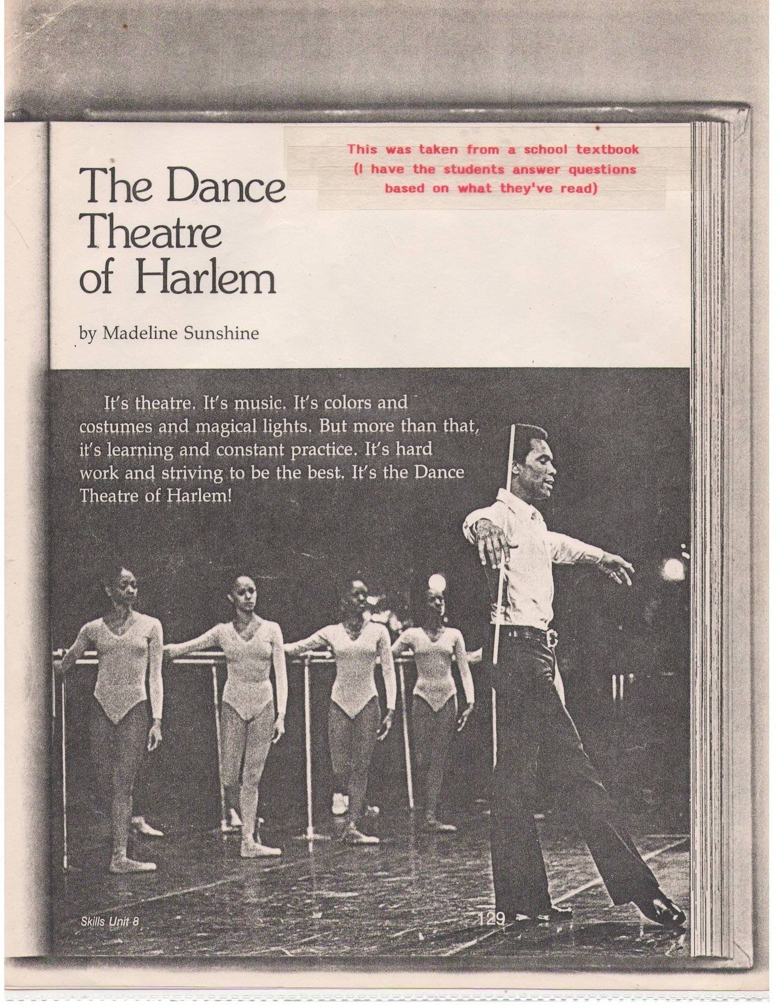 Arthur Mitchell And The Dance Theatre Of Harlem
