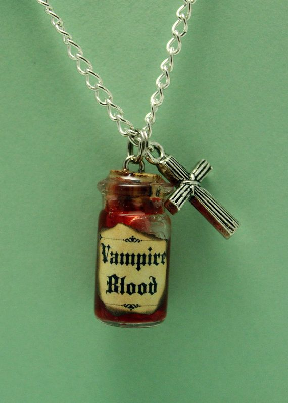 Glass vial necklace vampire blood with crucifix charm apothecary glass vial necklace vampire blood with crucifix charm mozeypictures Image collections