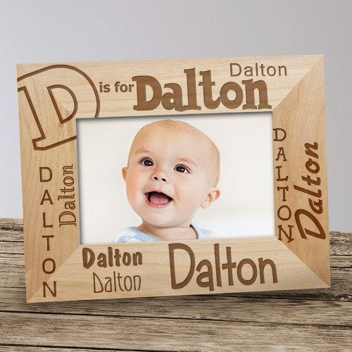 Personalized Alphabet Name Baby Kids Wood Picture Frame Baby