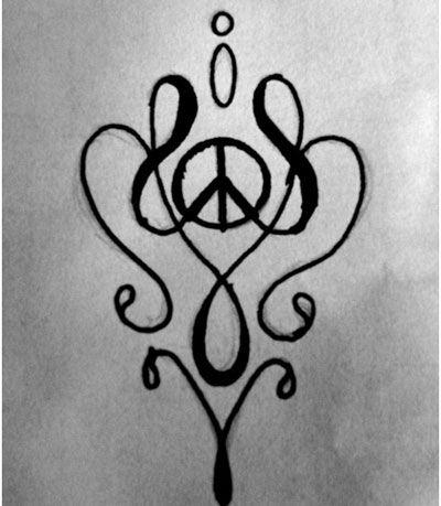 Small sheet tats peace & flowers Temporary Tattoo NEW! | eBay |Small Tattoo Designs Peace Sign