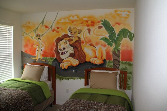 Beau Lion King Themed Vacation Home Bedroom