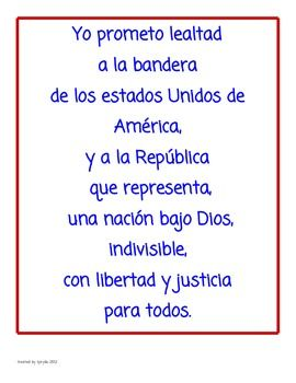photograph relating to Pledge of Allegiance in Spanish Printable identify Pledge of Allegiance inside English Spanish Spanish for Small children