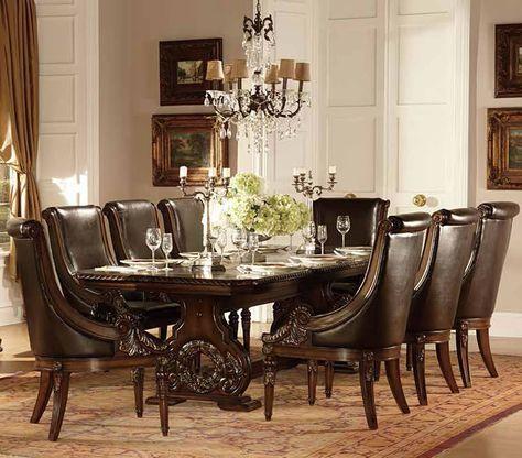 Orleans Old World European Inspired Formal Dining Set House plans