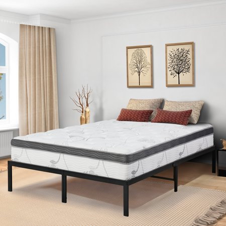 Granrest 14 Inch Innovative Metal Platform Bed Frame Twin