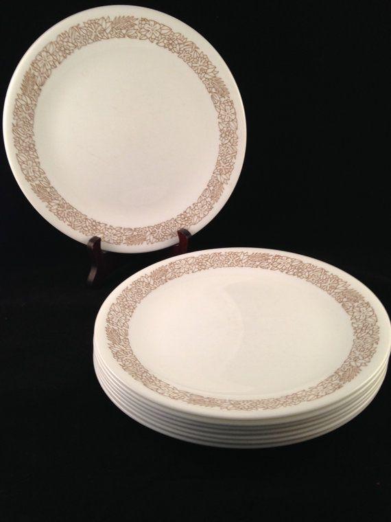 Corelle Woodland Brown Luncheon Plates Set of 8 | Pinterest