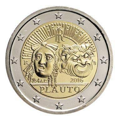 A Plauto una moneta da 2 Euro a circolazione ordinaria per commemorare il 2200° anniversario della sua morte!