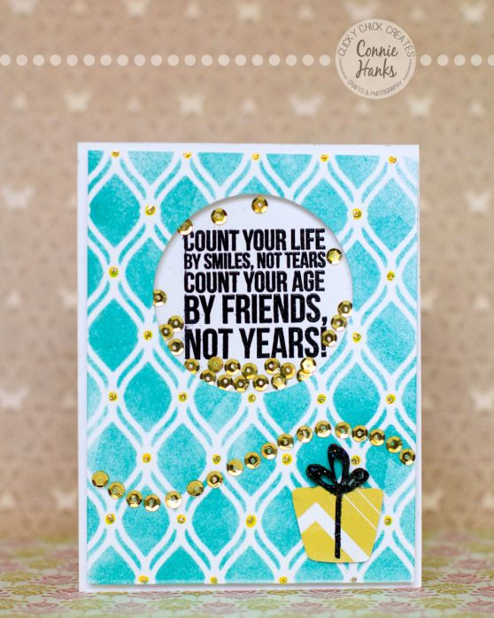 "Connie Hanks Photography // ClickyChickCreates.com // Birthday card using John Lennon quote ""Count your life by your smiles, not tears. Coun..."