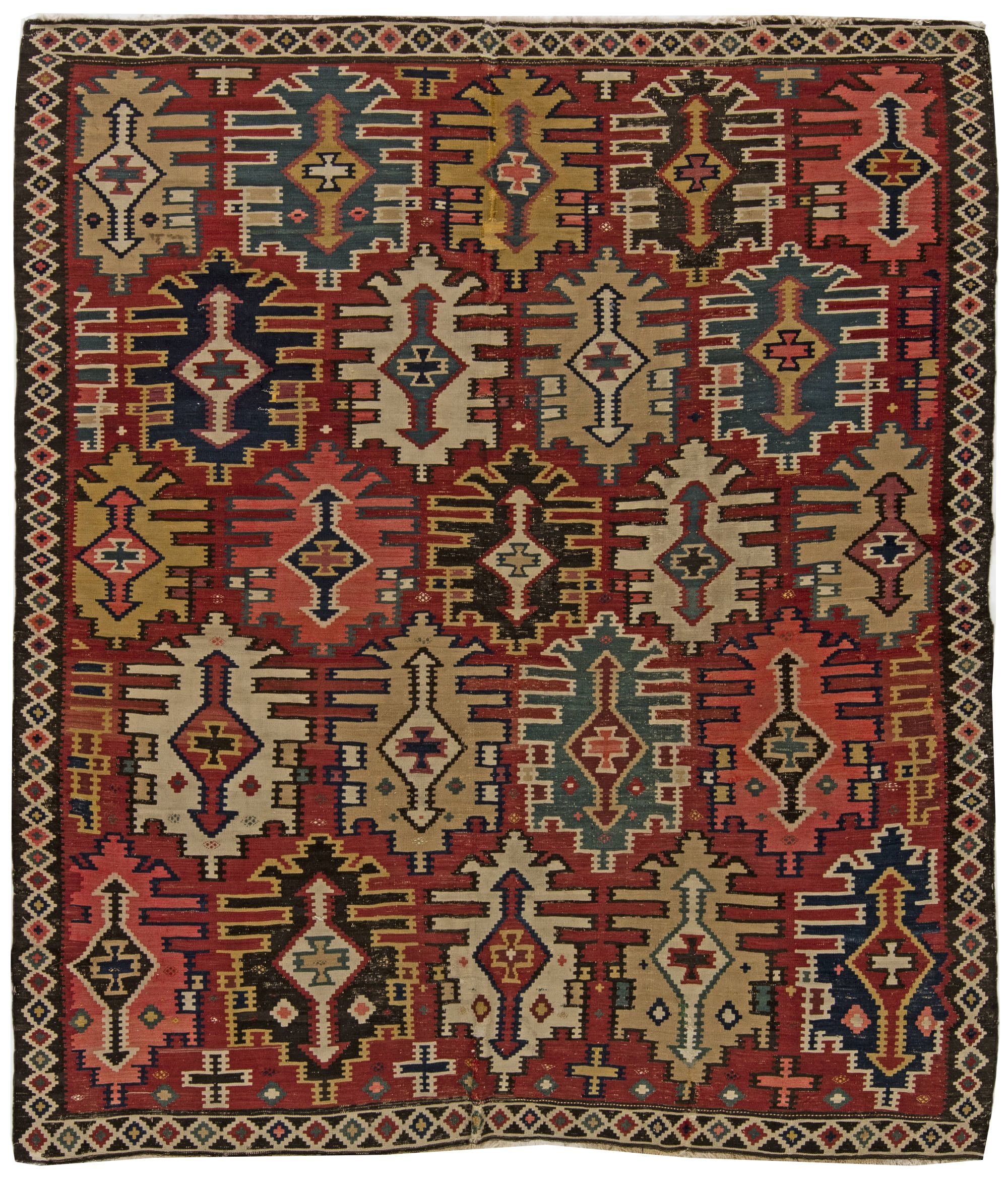 with rugs western border antique yellow rug x product anatolian kula