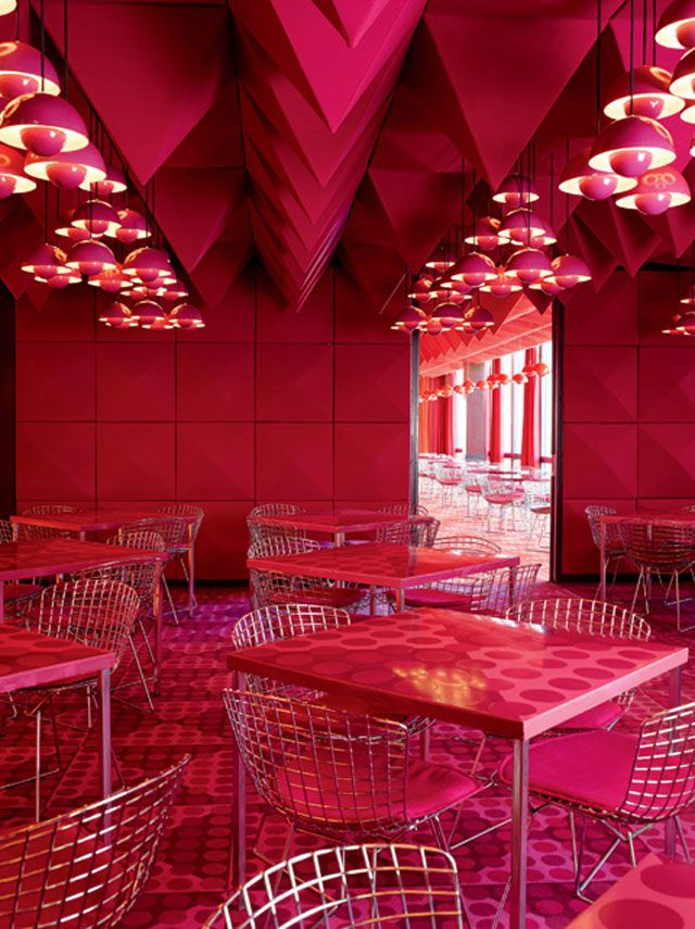 Verner Panton Interiors // Restaurant Varna & Spiegel Verlagshaus ...