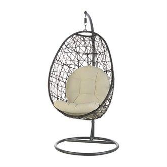 Chaise Suspendue Style Rotin Avec Coussin Cadre En Acier Canac