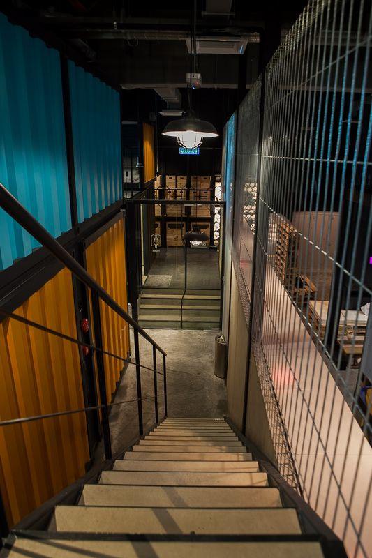 Capsule Hotel Tetawowe Atelier Design Stair