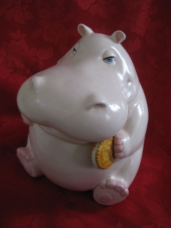 Vintage Fitz And Floyd Hippopotamus Cookie By