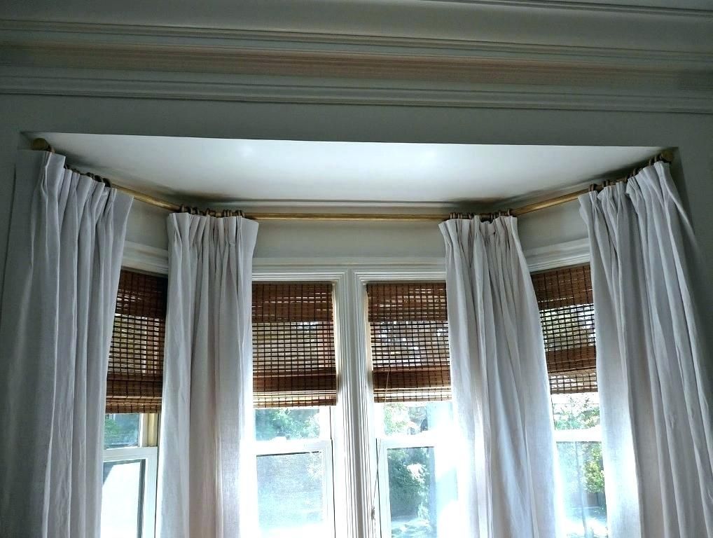 Comfortable Corner Curtain Rod Images Elegant Corner Curtain Rod