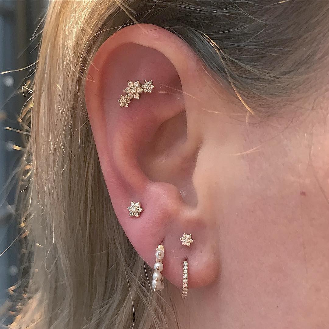 Cartilage Earrings Marquise Ruby Helix Piercing Diamond Lobe Piercing Ear Climbers Ruby Cartilage Earring