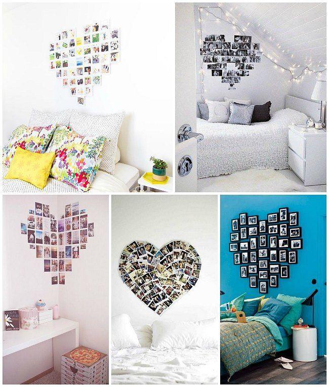 Decora tu recamara con muchas fotos! | Decoraciones | Pinterest ...