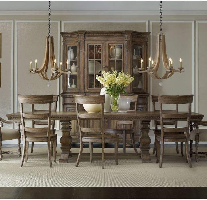 One Allium Way Gowins 9 Piece Dining Set Rectangle Dining Table