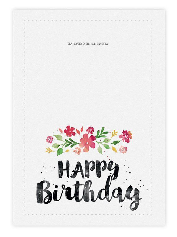Printable Birthday Card For Her Happy Birthday Card Cute Etsy Happy Birthday Cards Printable Birthday Cards To Print Birthday Card Printable
