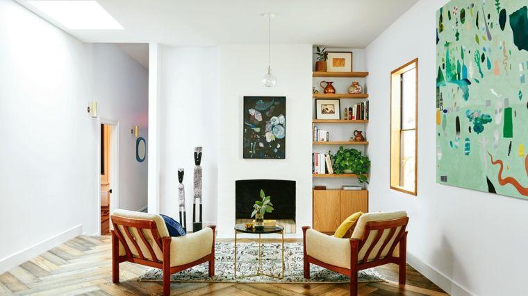 Decorazioni per il soggiorno dallo stile shabby, arredo con mobili ...