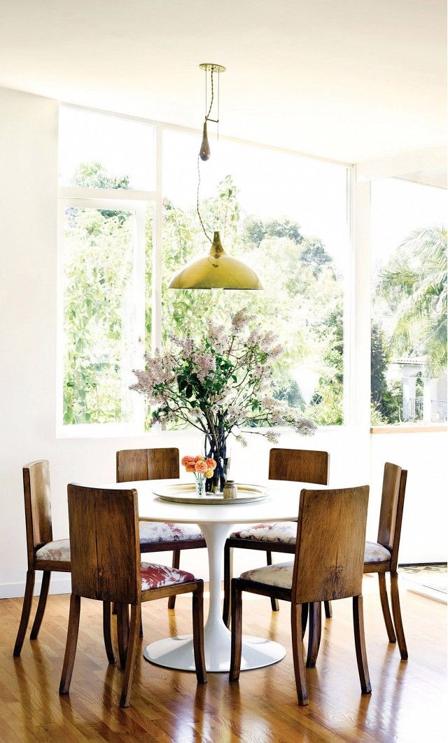 Farewell Minimalism Mixing Furniture Styles Is In Dining Room