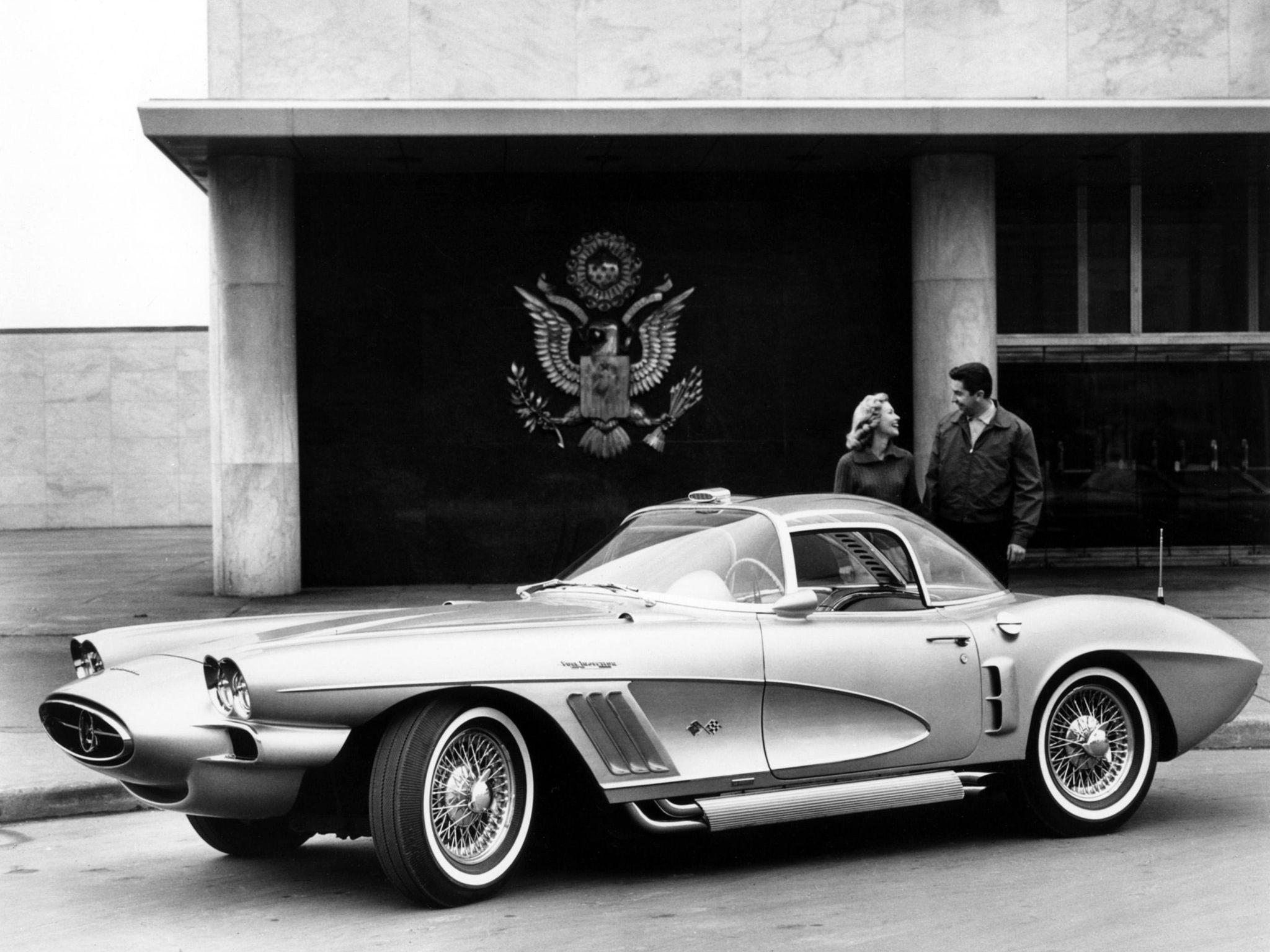 The 1958 corvette concept car