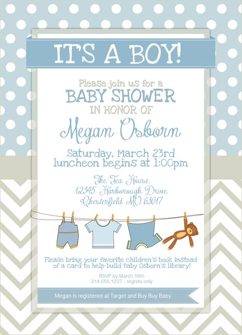 Boy Baby Shower Free Printables – Free Baby Shower Invitation Cards