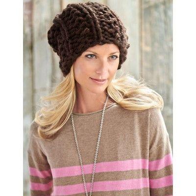 Big Textures Hat Free Knitting Pattern From Bernat Of Yarnspirations